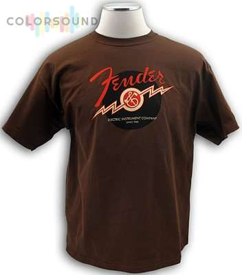 FENDER LIGHTNING BOLT TEE, BRN L