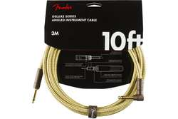 FENDER CABLE DELUXE SERIES 10' ANGLED TWEED