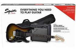 SQUIER by FENDER AFFINITY SERIES STRAT HSS PACK LR BS GIG BAG 15G