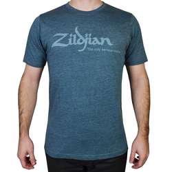 ZILDJIAN HEATHERED BLUE TEE SHIRT L