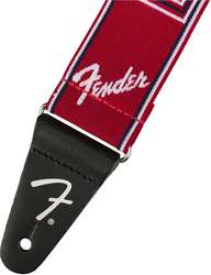 "FENDER 2"" WEIGHLESS MONOGRAMMED STRAP RED/WHITE/BLUE"